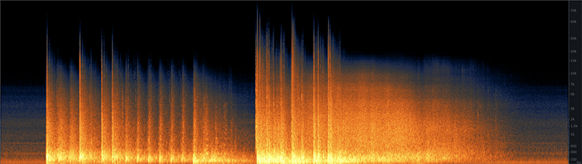 Bank Implosion Spectrogram