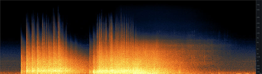 Medium Office Implosion Spectrogram