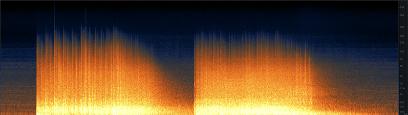 Stadium Implosion Spectrogram