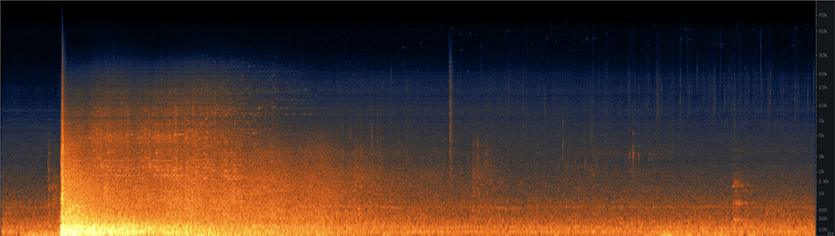 Stadium Roof Implosion Spectrogram